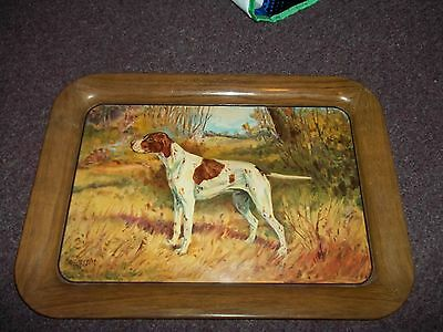 vintage dog tin tray A.C. co 71-A #40 good condition for age 17 1/2 in x12 3/4in