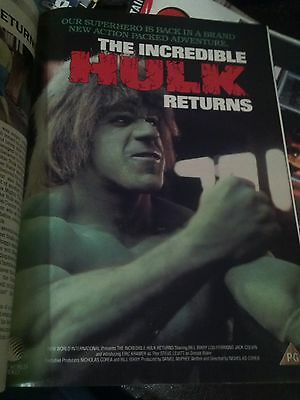 Incredible Hulk Single Page Poster Advert Film Movie Magazine 1990's