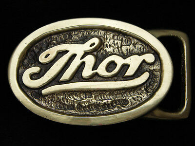 PK01142 *NOS* VINTAGE 1970s **THOR** TOOLS COMPANY POLISHED SOLID BRASS BUCKLE