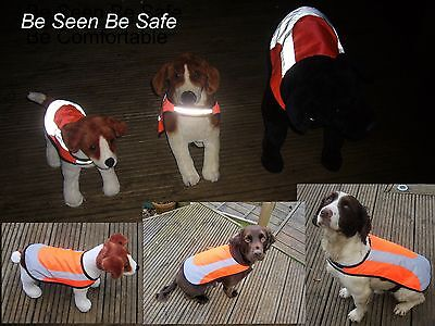 Rosewood Hi Viz Reflective Lined waterproof  Safety  Dog Vest Coat  S M L