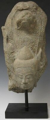 SOUTHEAST ASIAN CARVED STONE TEMPLE FIGURE Lot 8200