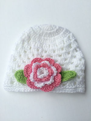 Cute Big Flower Baby Cap Kids Infant Toddler Girl Warm Beanie Knit Hat lovely