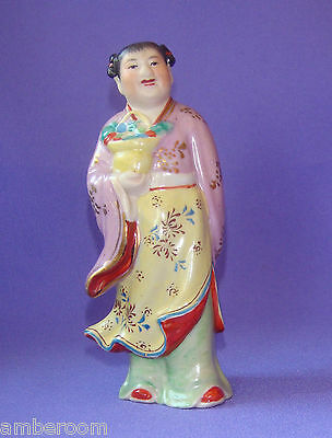 Vintage Chinese Porcelain Figurine Figure,The Eight Immortals Statue - Lan Caihe