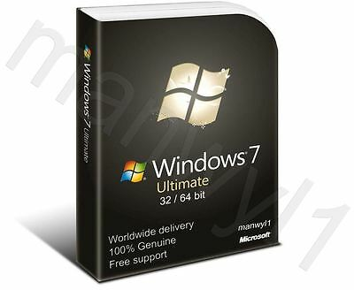 Windows 7 Ultimate 32 / 64 bit Product Activation License Key Scrap PC