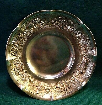 Antique Indian Gilt Silver Small Dish - India