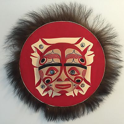 Northwest Coast First Nations- East and West Moon Mask By Patrick Amos