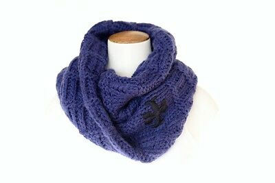 Tory Burch Whip Stitch T Scarf Marlin Blue 100/% Wool $195 Authentic NWT