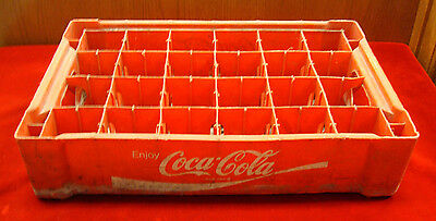 Vintage Coca-Cola Plastic #10 24 Cell Bottle Caddy, Tote, Crate