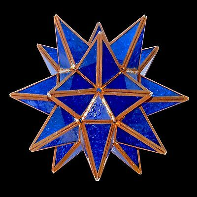 Antique Moroccan Deep Blue Glass Pendant Star Shape Hand-made Ceiling Lamp/Light