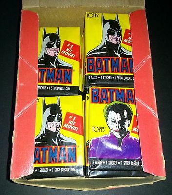 Batman Movie Series 1 ~ 1989 Original Topps Trading Cards Sealed Pack