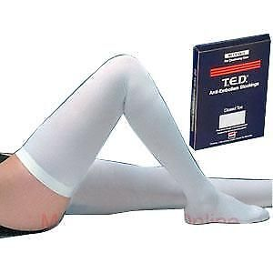 T.E.D. Thigh-Length Anti-Embolism Stockings 1 Count, White, Small Regular *NEW*