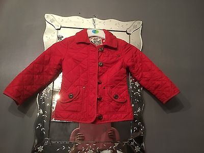 NEXT AGE 5-6YRS RED  quilted jacket coat  fleece lined warm winter