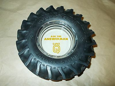 """Goodyear Tractor Tire Ashtray """"ask The Answerman"""" Mint No Chips Or Cracks"""