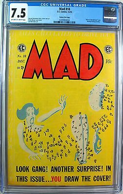 Mad #18 Gaines File Copy (EC 12/54) CGC 7.5 Comic with COA - Alfred E Neuman