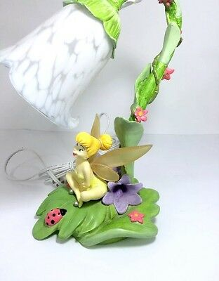 "Disney Fairies Tinkerbell Tulip Lamp 14"" tall in pristine condition beautiful!!!"