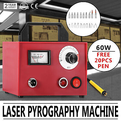 Multifunction Wood Burning Tool Pyrography Machine 60W 20Pcs Pyrography Nib 1mm