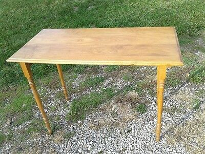 Antique Fold Up Sewing Table Maple Circa 1950 Original Finish