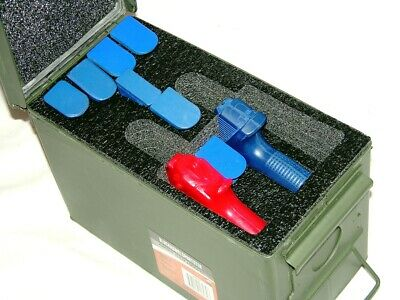 Closed cell QuickDraw Foam fits 50 cal caliber Ammo Can holds 2 Pistols 7 mags