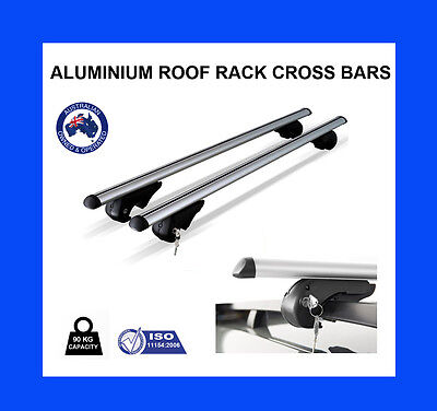Roof Rack Cross Bars 4 TOYOTA KLUGER 2003-2013 fitted with raised roof rails