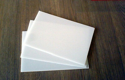 White Polypropylene Sheet 150mm x 150mm x15mm Thick Engineering Plastic Material