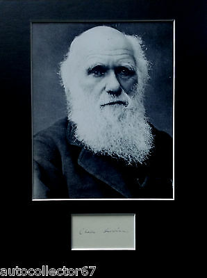 CHARLES DARWIN signed autograph PHOTO DISPLAY Theory of Evolution Biology