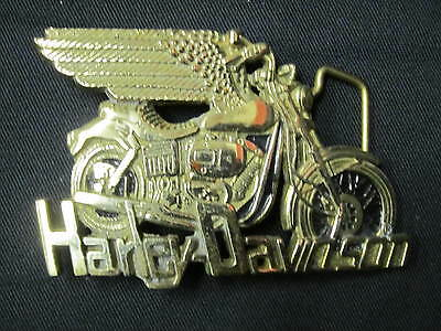 Harley 1983 80Th Anvsry Buckle Vintage Motorcycle Solid Brass Baron #1199
