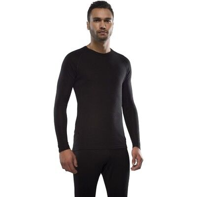 Icebreaker Everyday Ls Crewe Mens Base Layer Top - Black All Sizes
