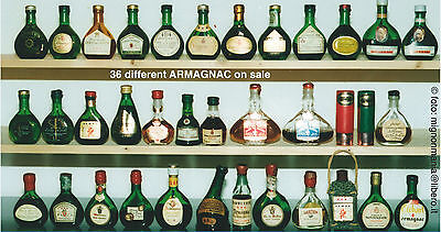 Liquori Armagnac lotto stock 36 mignon miniature bottigliette differenti
