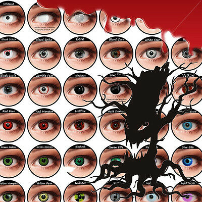 Crazy Halloween Contact Lenses Kontaktlinsen color contact lens color ONE PAIR
