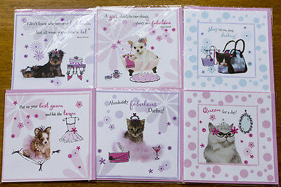 50 x Dog and cat wholesale job lot greeting cards