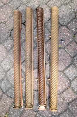 antique SET of 4   Twist  COLUMNS  **project**