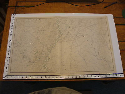 """1891 Civil War Map 18"""" X 29"""": Topographical Plate CLV: LOUISIANA & MISSISSIPPI"""