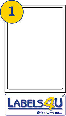 A4 White STICKY Address Labels 100 Sheets of 1 Label Per Sheet Size199.6x289.1mm