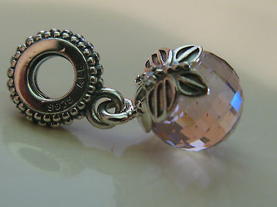 Authentic Pandora Sterling Silver New Pink Butterfly Dangle Charm 791258PCZ