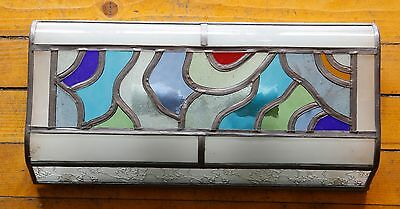 Original Vintage Art Deco Glass Multi-Color  Sconce Metal