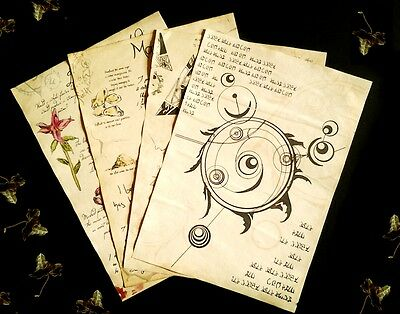 Alchemy journal pages inspired by the Elder scrolls and Skyrim