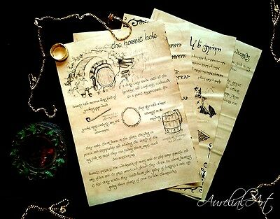 Lord of the Rings/ Hobbit Inspired fantasy journal pages