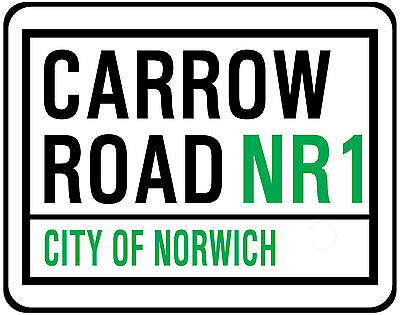 Norwich City F.c. Street Sign On Mouse Mat / Pad. Carrow Road