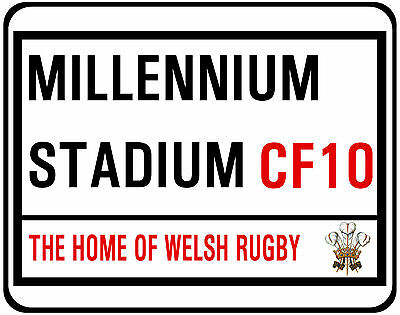 Millennium Stadium Street Sign On Mouse Mat / Pad. Welsh Rugby
