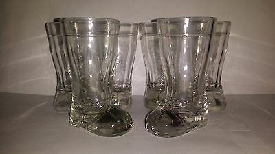 Collectable Set of 6 Glass Boot Shot Glasses
