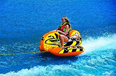 WOW Watersports BUZZ BOAT - Inflatable Tube Biscuit Water Toy