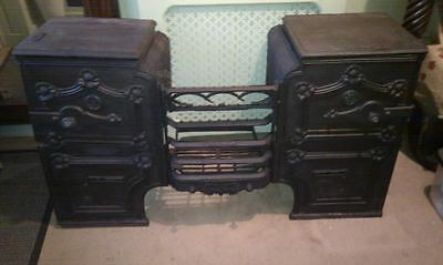 cast iron fireplace, stove, kitchen range