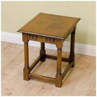 Arts and Crafts Oak Side Table by Peter Hall of Staveley
