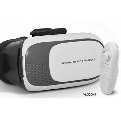 Dynamode VRG200-R Virtual Reality VR Headset with Bluetooth Controller Remote
