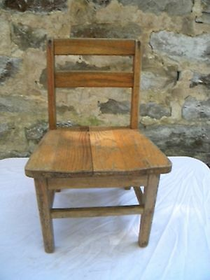 Vintage Child's Chair School.Church.Oak Wood wooden