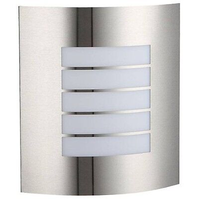 Static Caravan Outdoor Exterior Wall Light Brushed Chrome