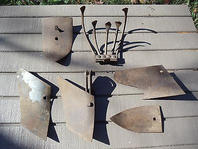 Antique  Push Plow Blades,garden Tools,rustic Country Decor,lot Of 6