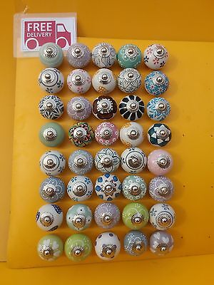 Lot Of 40 ceramic knobs and pulls Cabinet & Furniture Hardware