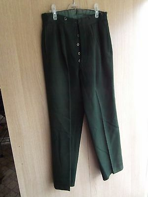 """from ex fancy dress hire shop ..male military green trousers  UK size 34 """" waist"""