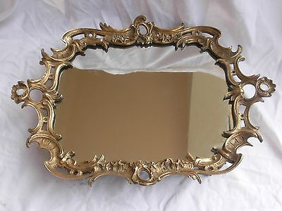 ANTIQUE FRENCH BRONZE MIRROR TRAY,LATE 19th CENTURY.